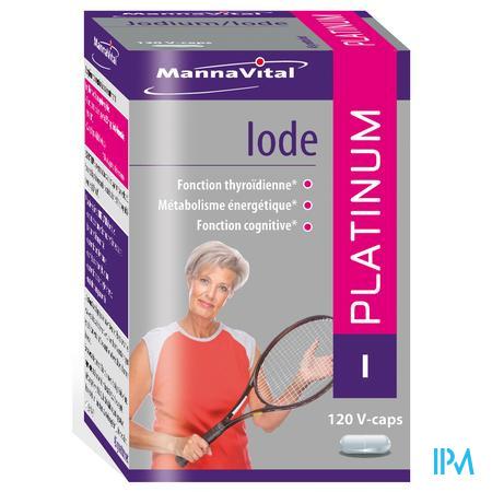 Mannavital Jodium Platinum 120 V- capsules