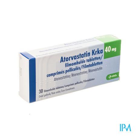 Atorvastatin Krka 40 mg Filmomhulde Tabletten 30