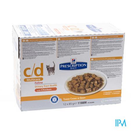 Hills Prescrip.diet Feline Cd Maaltijdzakje 12x85g