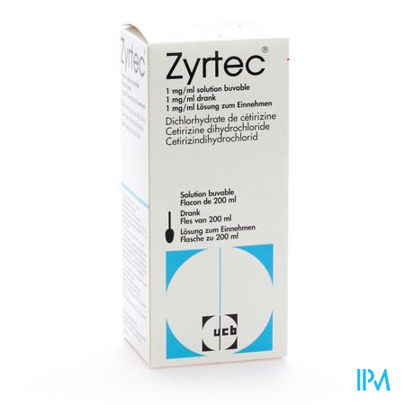 Zyrtec Drinkb Opl 200ml 1mg/ml