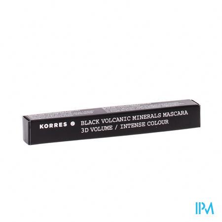 Afbeelding Korres Black Volcanic Minerals Mascara 3D Volume en Intense Kleur n°01 Zwart.