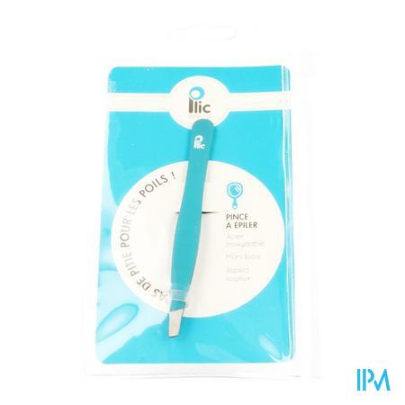 Afbeelding Plic Epileerpincet met Schuine Punt Blauwgroen.