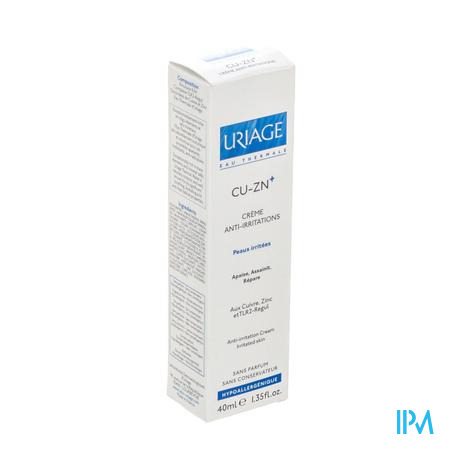 Uriage Cu-Zn+ Anti-Irritations Crème 40 ml tube