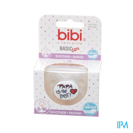 Bibi Fopspeen Basic Care Mama Papa I Love 6-16M