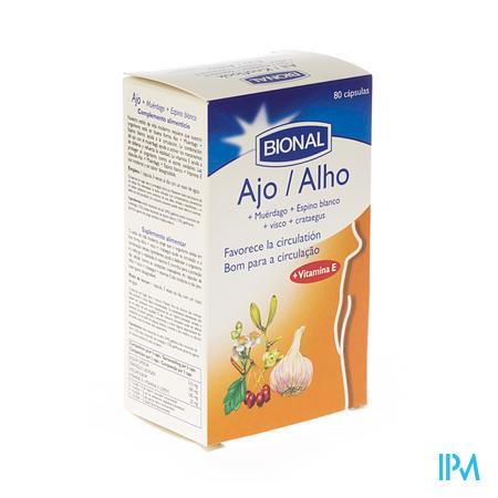 Bional Ail-Gui-Aubépine-Vit E 80 capsules