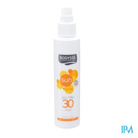Afbeelding Bodysol All Day Waterresistente Zonnespray SPF 30 voor Lichaam 150 ml.