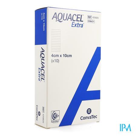 Aquacel Extra Verb Hydrofiber+versterk. 4x10cm 10