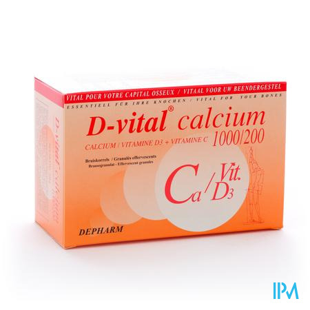 Farmawebshop - D VITAL CALCIUM ORANGE 1000 ZAKJES 30