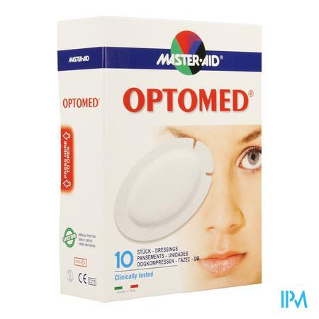 Optomed Oogkompres Adh Latexvrij 96x66mm 10 70118