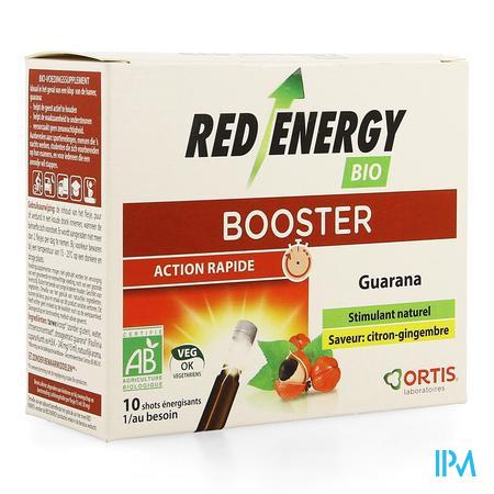 Ortis Red Energy Citron Gingembre Bio sans alc10x15 ml