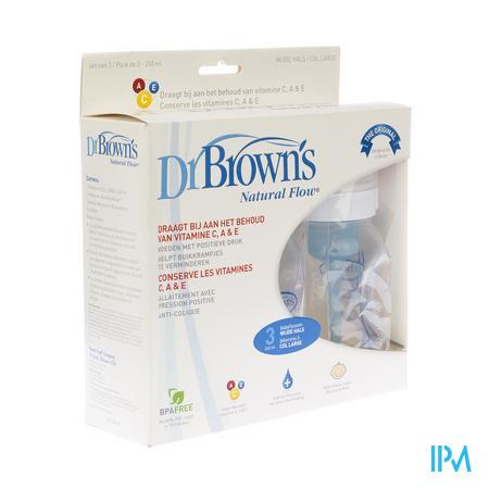 Dr Brown Biberon Polypropyleen 240ml 3 pièces