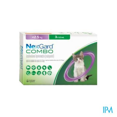 NEXGARD COMBO <2,5 KG S VETER 3X 0,3 ML