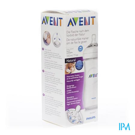 Farmawebshop - AVENT ZUIGFLES NATURAL 330ml