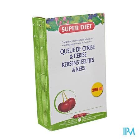 Super Diet Kersensteeltjes 15 ml 20 ampoules