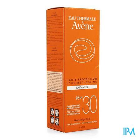 Afbeelding Avène Waterbestendige Zonnemelk met SPF 30 zonder Wit Effect Tube 100 ml.