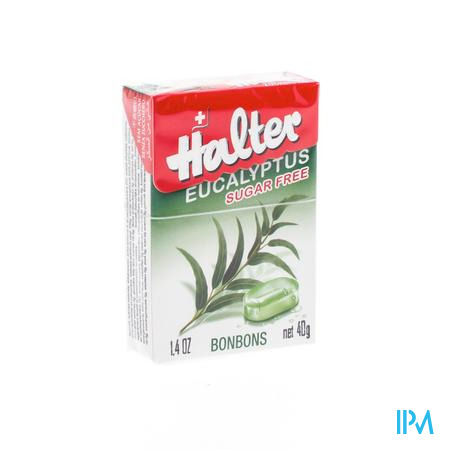 Halter Bonbon Eucalyptus Zonder Suiker 40 g