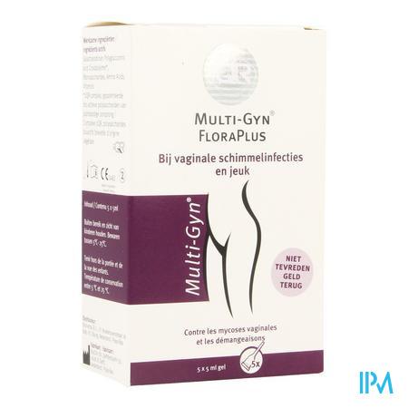 Afbeelding Multi-Gyn FloraPlus bij Vaginale Schimmelinfecties en Jeuk Gel 5 x 5 ml.
