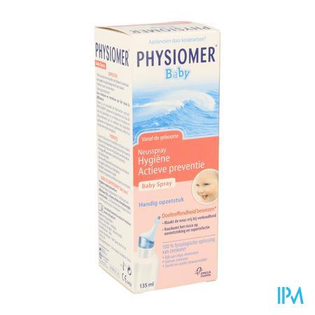 Afbeelding Physiomer Baby Fysiologische Neusspray voor Hygiëne en Actieve Preventie 135 ml.