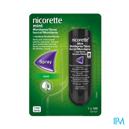 Nicorette Mint Mondspray 1x150 Sprays 1mg/spray