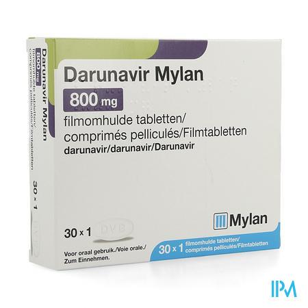 Darunavir Mylan 800mg Filmomh Tabl 30