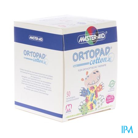 Ortopad Cotton Medium Boys Oogpleisters 50 stuks