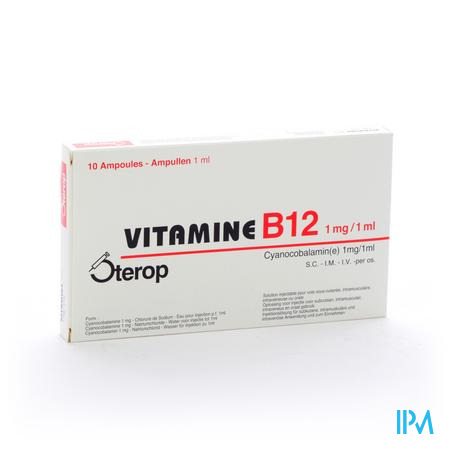 STEROP VIT B12 1MG/1ML  10AMP