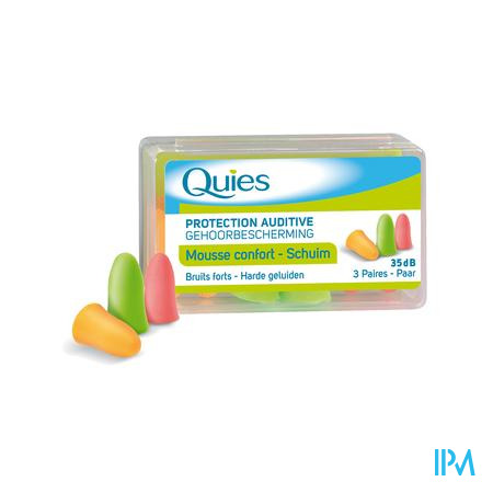 Quies Oordoppen Mousse Fluo 3 Paar
