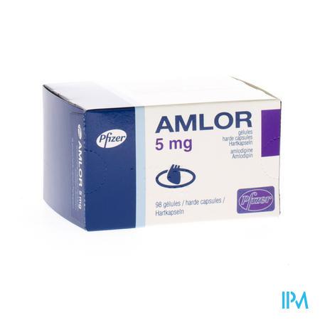Amlor 5mg Caps 98 X 5mg