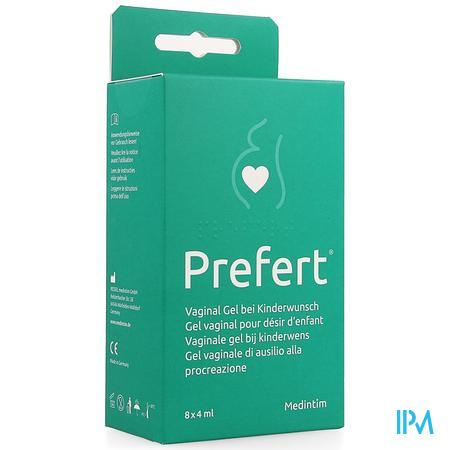 Prefert Vag. Glijmiddel Kinderwens Applic. 8x40ml