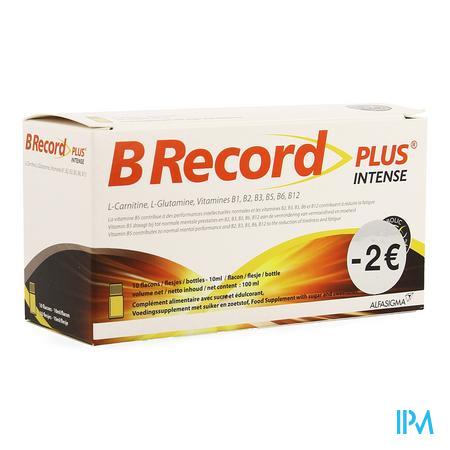 B Record Intense Fioles 10x10ml Promo -2€