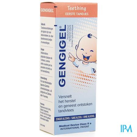 Afbeelding Gengigel Teething Eerste Tandjes met Hyaluronzuur en zonder Alcohol voor Versneld Herstel en Genezing van Ontstoken Tandvlees Tube 20 ml.