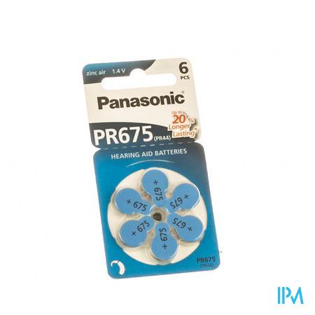 Panasonic Batterie Appareil Oreille Bleu Pr 675H 6 pièces