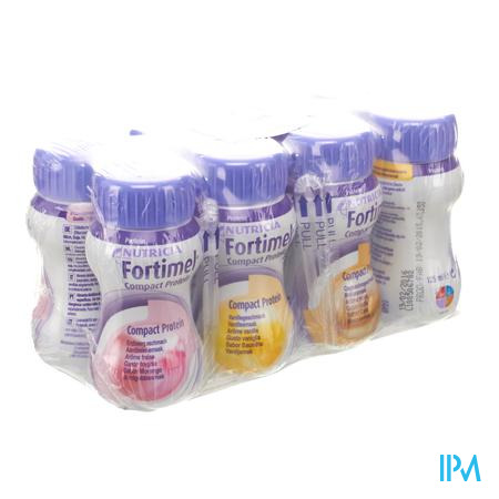 Fortimel Compact Protein Mix Multipack 8x125 ml  -  Nutricia