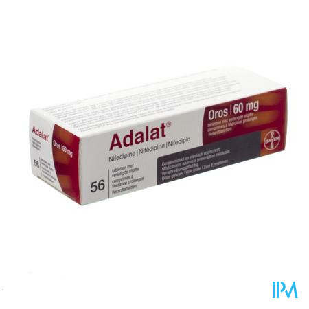 Adalat Oros 60mg Pi Pharma Comp 56 X 60mg Pip