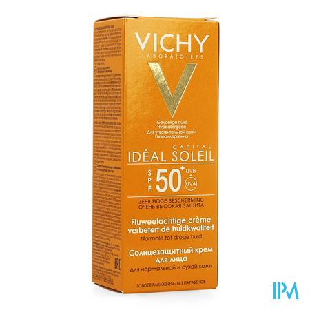 Afbeelding Vichy Ideal Soleil Zonnecrème met SPF 50+ voor Normale tot Droge Huid 50 ml.