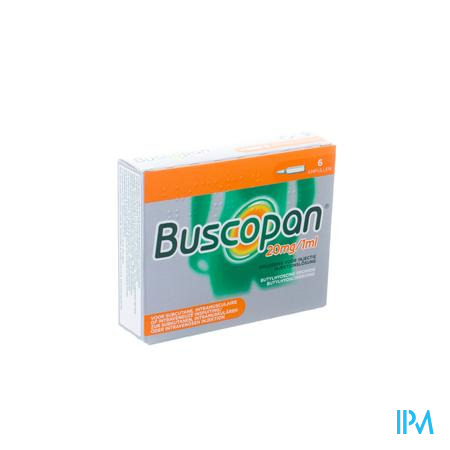 Afbeelding Buscopan ampullen 6x20mg/ml.