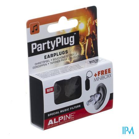 Alpine Party Plug Oordoppen Transparant New 1p