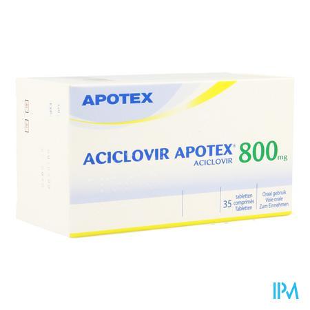 Aciclovir 800 Apotex Comp Sec 35 X 800mg
