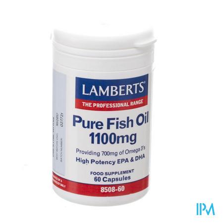 Lamberts Huile Poisson Pur 1100mg Caps 60