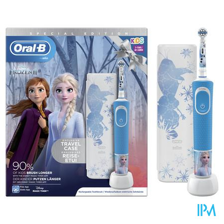 Oral B D100 Frozen 2 + Travelcase Gratis