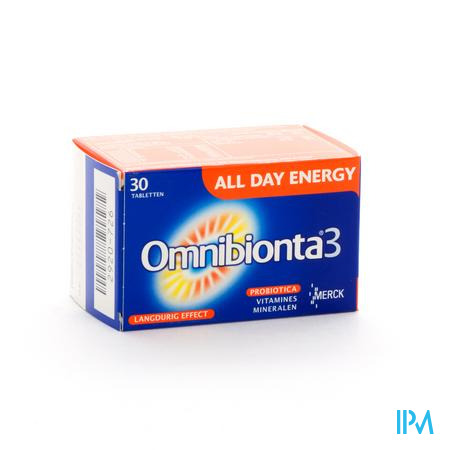 Afbeelding Omnibionta 3 All Day Energy Vitamines en Mineralen 30 Tabletten.