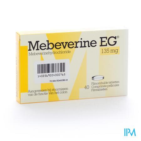 Mebeverine EG 135mg 40 dragées