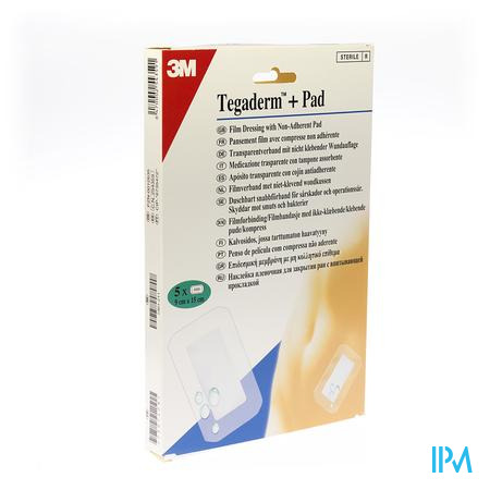 3M Tegaderm + Pad Transparant Sterile 9 x 15Cm 5 stuks