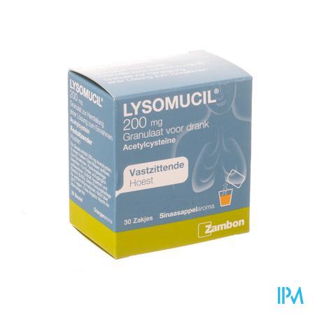 Lysomucil 200 Gran Zakjes 30 X 200 mg