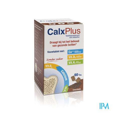 Afbeelding Calx Plus Chocolade 60 Kauwtabletten.