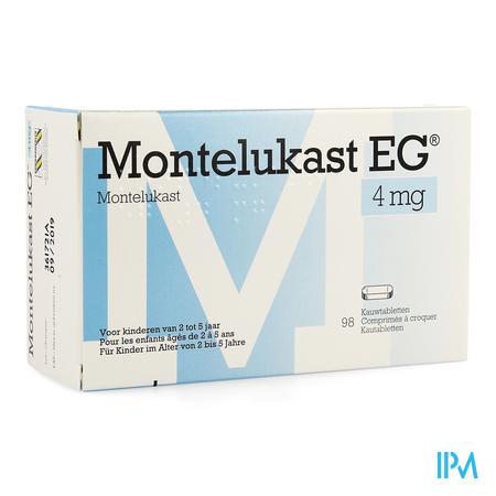 Montelukast Eg Impexeco 4mg Kauwtabl 98