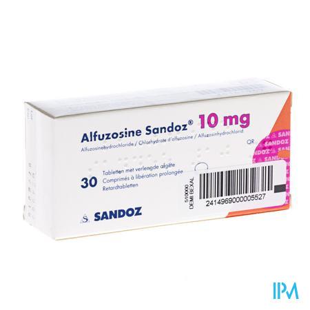 Alfuzosine Sandoz Comp 30 X 10mg