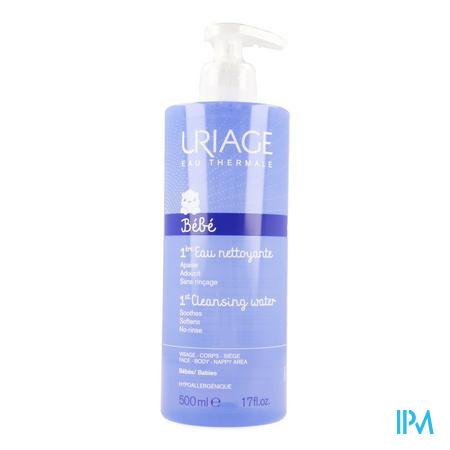 Afbeelding Uriage 1ère Eau Mild Reinigingswater voor Baby's voor Gelaat-Lichaam-Zitvlak Flacon 500 ml.