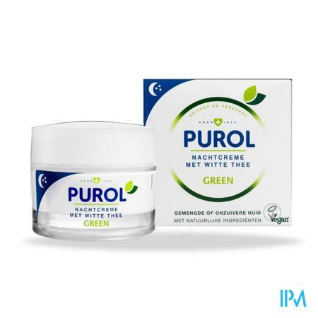 Purol Green Nachtcreme Witte Thee 50ml
