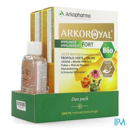 Arkoroyal Immuniteit Fort Duo Amp20x10ml+h.gel50ml